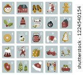 christmas advent calendar.... | Shutterstock .eps vector #1224540154