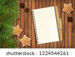 notepad and a pencil with... | Shutterstock . vector #1224544261