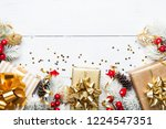 heap of gifts or presents boxes ... | Shutterstock . vector #1224547351