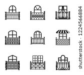 clearance icons set. simple set ... | Shutterstock .eps vector #1224566884