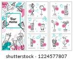 cocktail menu design template... | Shutterstock .eps vector #1224577807