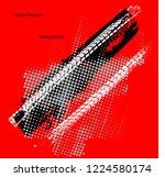 scratch grunge urban background.... | Shutterstock .eps vector #1224580174