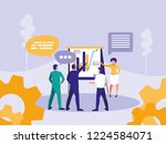group business people with... | Shutterstock .eps vector #1224584071