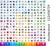 Set Colorful Icons  Travel ...