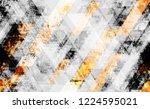 distressed grunge geometric... | Shutterstock .eps vector #1224595021