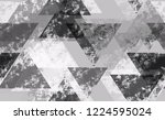 distressed grunge geometric... | Shutterstock .eps vector #1224595024