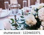 wedding table serivce. candles... | Shutterstock . vector #1224602371
