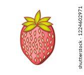 fresh strawberry fruit isolated ... | Shutterstock .eps vector #1224602971