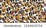 trendy seamless pattern with... | Shutterstock .eps vector #1224613714