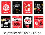 final big christmas sale set of ... | Shutterstock . vector #1224617767