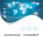 blue map of the world | Shutterstock .eps vector #122462815