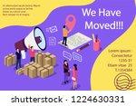 isometric illustration concept. ... | Shutterstock .eps vector #1224630331