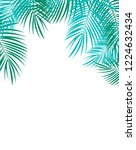 palm leaf vector background... | Shutterstock .eps vector #1224632434