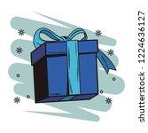 pop art gift cartoon | Shutterstock .eps vector #1224636127