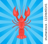 crawfish or crawdads ... | Shutterstock . vector #1224640141