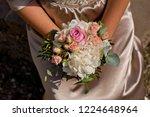 bridal bouquet in hand. top... | Shutterstock . vector #1224648964
