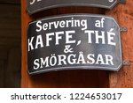 vintage sign in swedish saying  ...   Shutterstock . vector #1224653017