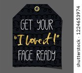 funny gift tag. lettering ... | Shutterstock .eps vector #1224653974