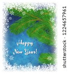 happy new year greeting card... | Shutterstock . vector #1224657961