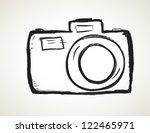 scribble hand drawn camera icon | Shutterstock . vector #122465971