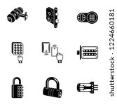 cipher icons set. simple set of ...