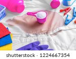 stain on clothes. stain... | Shutterstock . vector #1224667354