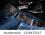 blue jeans with rock style of... | Shutterstock . vector #1224672217