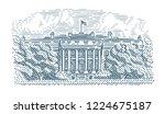 american white house engraving...   Shutterstock .eps vector #1224675187