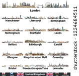 united kingdom largest cities... | Shutterstock .eps vector #1224684511