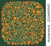 flower tree ornament | Shutterstock .eps vector #1224699547