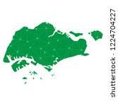 map of singapore from polygonal ... | Shutterstock .eps vector #1224704227