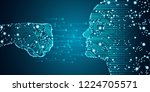 big data and artificial... | Shutterstock .eps vector #1224705571