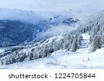 Alpine Landscape Of Ski And...