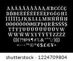 broken sharp verged uppercase... | Shutterstock .eps vector #1224709804
