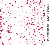 confetti of two colored rhombs... | Shutterstock .eps vector #1224714097