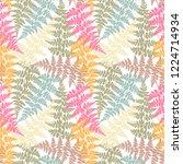 fern frond herbs  tropical... | Shutterstock .eps vector #1224714934