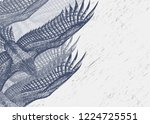 horizontal banner with drawing... | Shutterstock .eps vector #1224725551