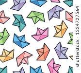 cute seamless pattern of paper...   Shutterstock .eps vector #1224727564