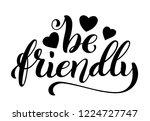 be friendly hand written... | Shutterstock .eps vector #1224727747
