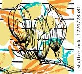tropical  stripe  animal motif. ...   Shutterstock .eps vector #1224728581