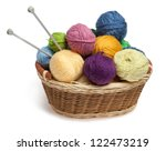 Knitting Yarn Balls And Needle...