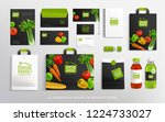 concept brand identity with... | Shutterstock .eps vector #1224733027