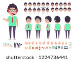 front  side  back view animated ... | Shutterstock .eps vector #1224736441