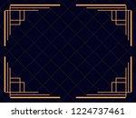 art deco frame. vintage linear...   Shutterstock .eps vector #1224737461