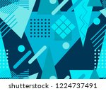 memphis seamless pattern....   Shutterstock .eps vector #1224737491