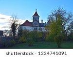renaissance castle in brenz at... | Shutterstock . vector #1224741091