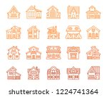 house thin line icons set....   Shutterstock .eps vector #1224741364