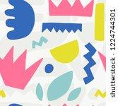seamless pattern with modern... | Shutterstock .eps vector #1224744301