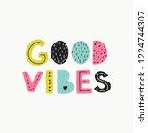 good vibes lettering.  vector... | Shutterstock .eps vector #1224744307