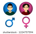 vector male and female. man and ... | Shutterstock .eps vector #1224757594